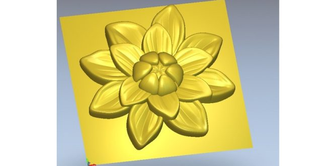3D Flower Relief 131 – DXF DOWNLOADS – Files for Laser