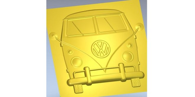 Volkswagen Kombi 3d Relief 283