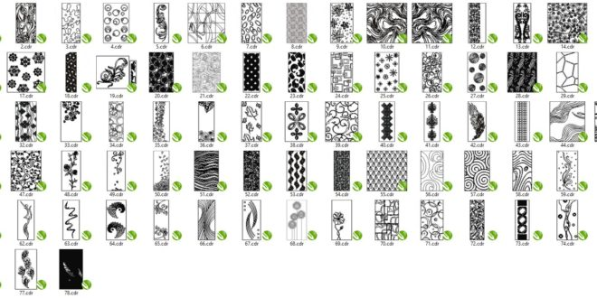 Kit 78 panels Patterns to Laser Machining Only in CDR format Corel 13