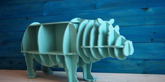 Hippo Shelf Vector to cut