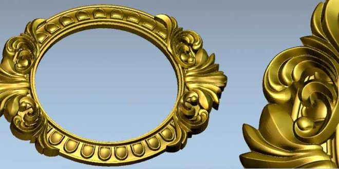 Picture Frame or Mirror – 3D Relief STL 587