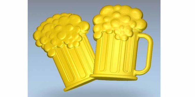 Chopp Beer Relief 3D STL 588 CNC Router Engraver Machine Relief Artcam 3D Print