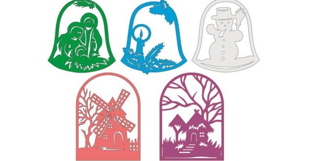 Christmas Vectors DXF CDR to Laser machine