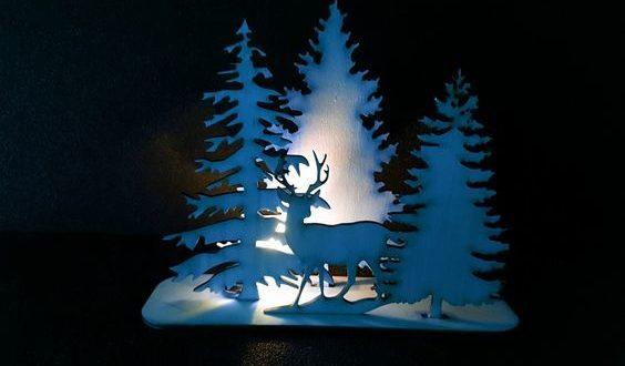Deer christmass decor