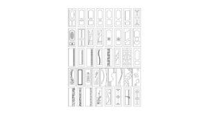 Kit Beautiful doors vectors