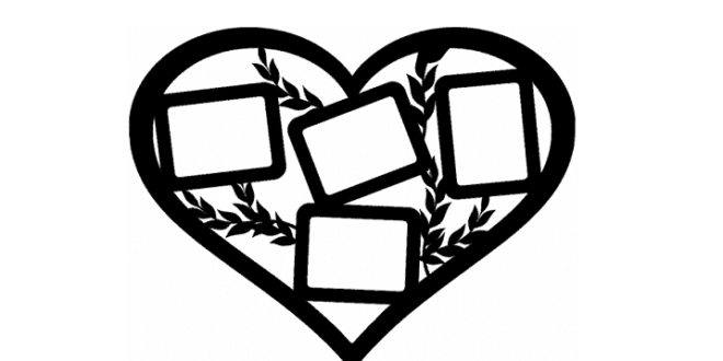 Heart-shaped photo panel