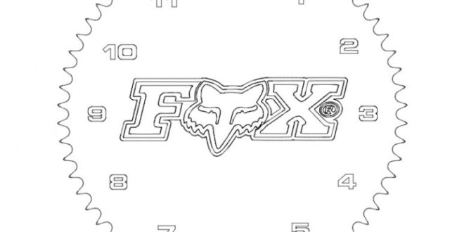 Populair Fox Gear Wall Clock FREE – DXF DOWNLOADS – Files for Laser Cutting  #EM07