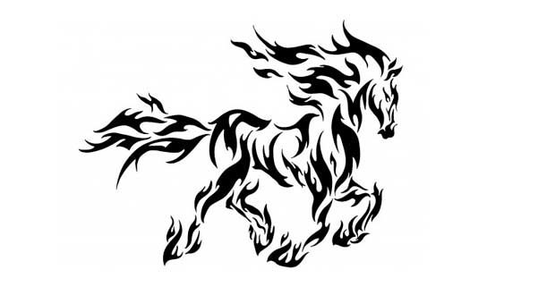 Horse on fire – FREE VECTOR – DXF DOWNLOADS – Files for Laser