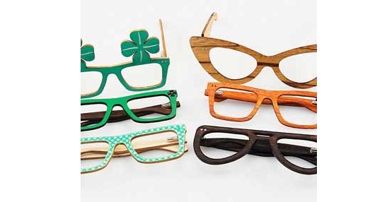 Wooden glasses shapes vectors