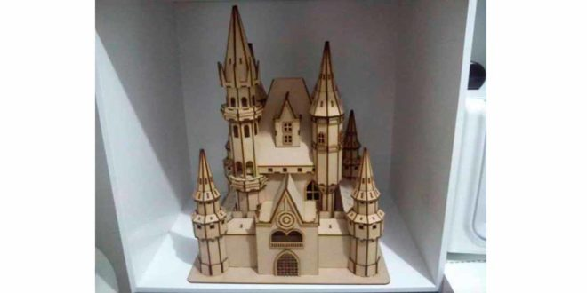 Castle for laser cutting wood 3mm DXF