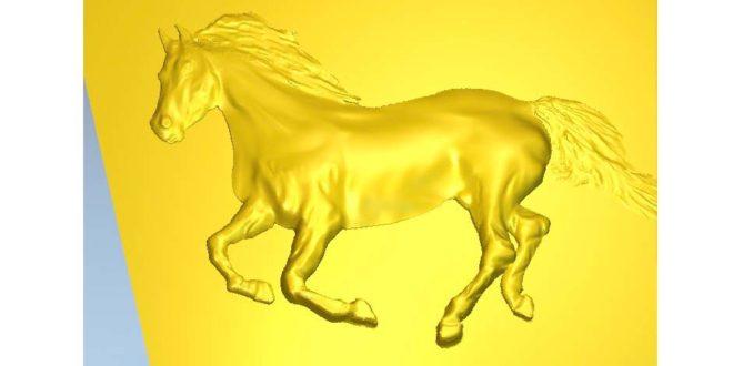 Relief 3D Horse STL RLF ArtCAM