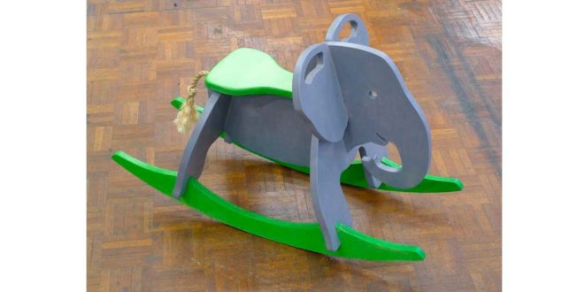 Toy Elephant Rocker 18mm DXF CDR vector files
