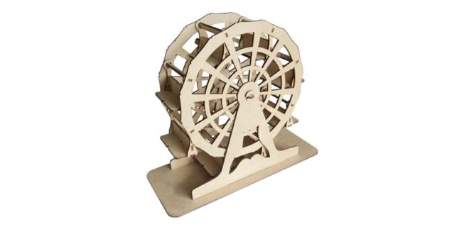 Giant Wheel for Laser Cutting 3mm DXF CDR