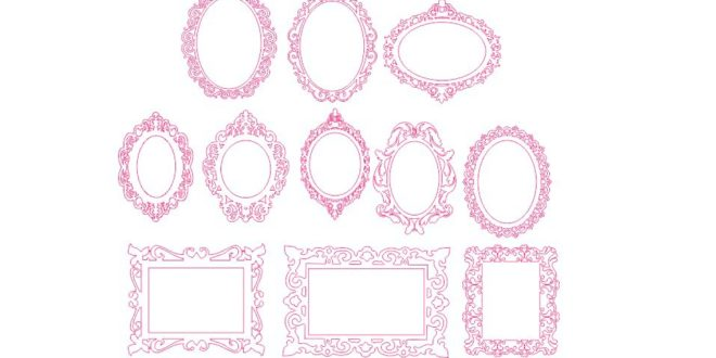 11 Provencal Frame Vectors – DXF and CDR Files Corel 18