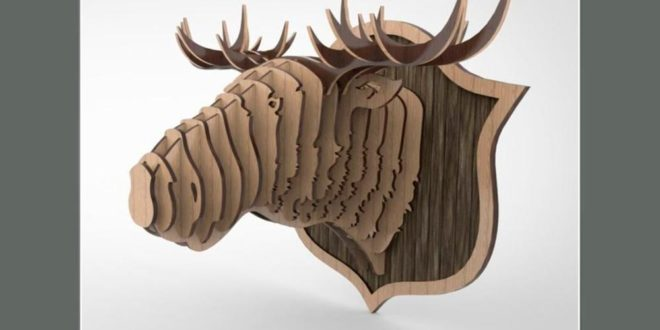 Moose Head – DXF for cutting with variations of models
