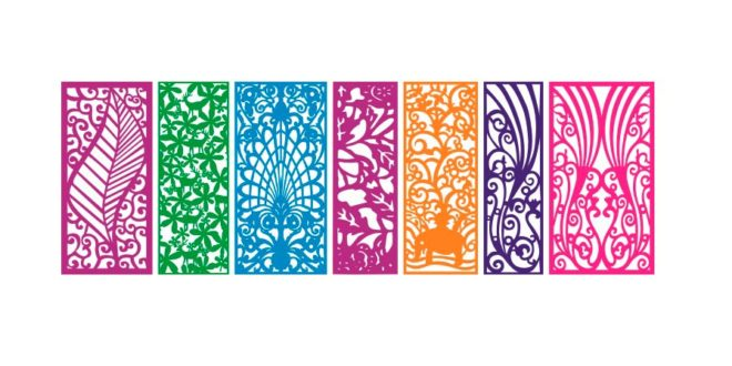 Vectors for decorative panels DXF EPS laser cutting – DXF DOWNLOADS