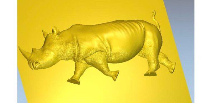 Rhinoceros STL 3D Relief