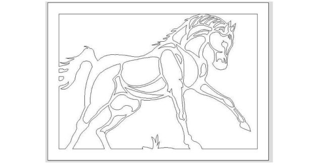 Vector Horse Frame 2D – FREE – DXF DOWNLOADS – Files for