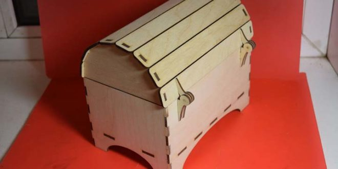 Chest for laser cutting vector in DXF