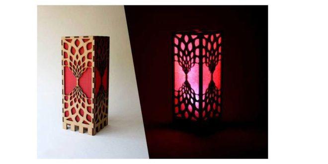 Decorative lit box with LEDs or lamps