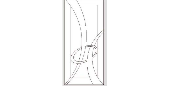 Vector of door for engrave in cnc router. DXF file