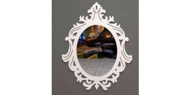 DXF vector for cutting mirror frame provencal