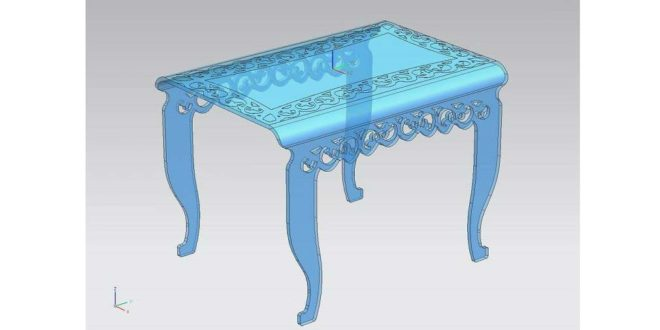 Vector table for cutting and engraving in acrylic and then folding