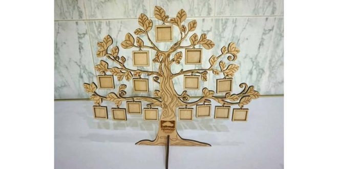 Tree in 4mm to hang pictures – DXF and CDR Vectors