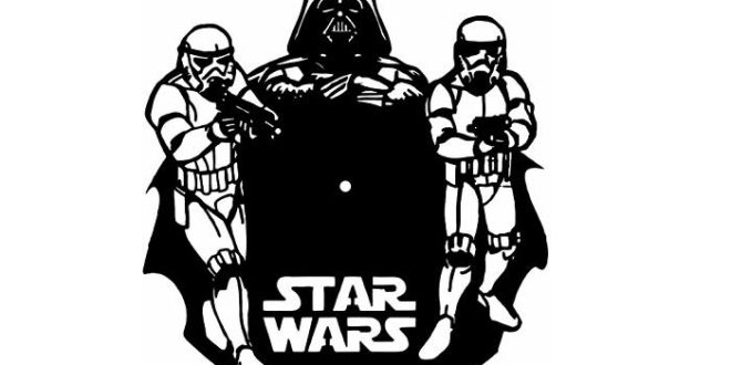 Star Wars Clock Vector CDR and DXF