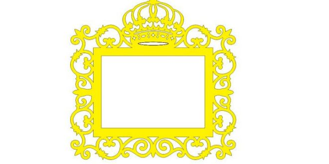 Picture frames – Crown – DXF CDR Vector 2D File to cut on laser or ...