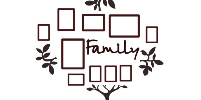 Decorative tree family – Vector files in DXF and CDR format for laser cutting