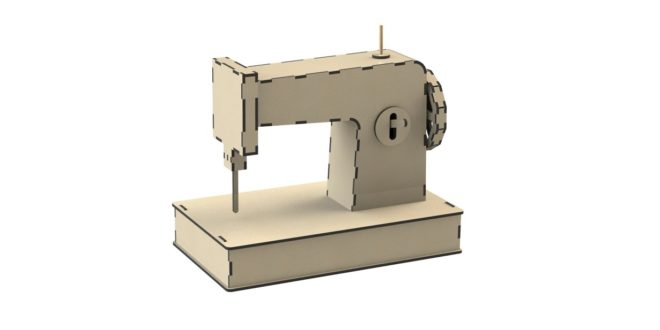 Sewing machine drawing ready to cut in CDR and DXF woodwork plywood vectors