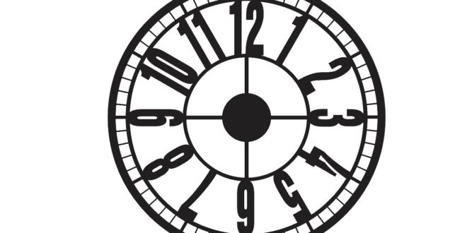 FREE Clock vector to laser cut DXF CDR files download