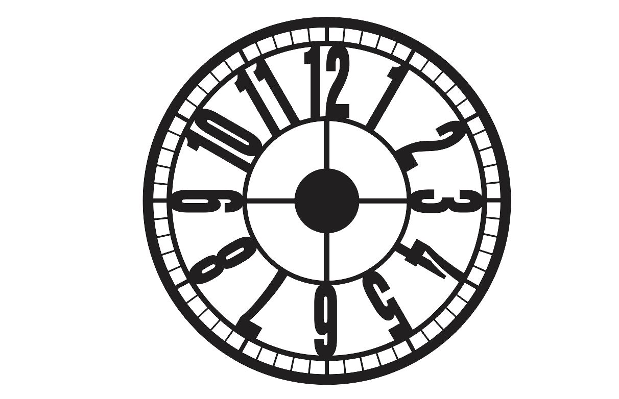 FREE Clock vector to laser cut DXF CDR files download – DXF