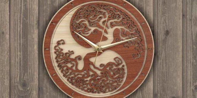 Tree clock – multi-piece mount