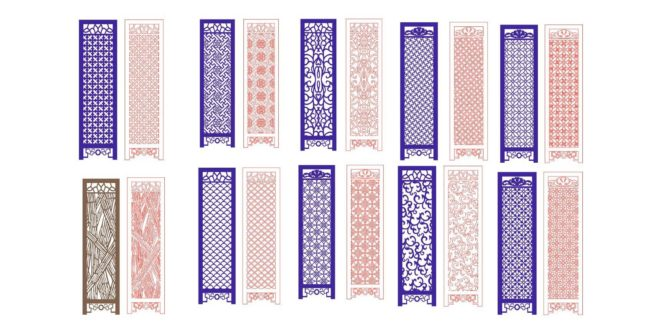 Laser Cut Panels Separators Laser Cutting Designs DXF Files