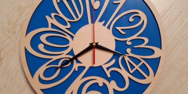 Wall Clock Decorative cdr dxf file artcam vectric aspire laser machine wood vcarve