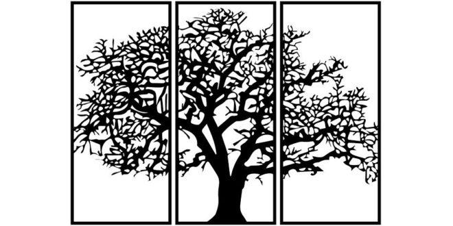 Tree frame for living room
