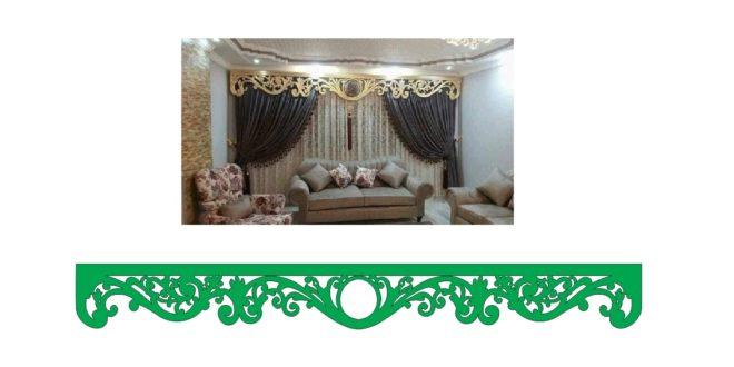 Decorative vector for curtain