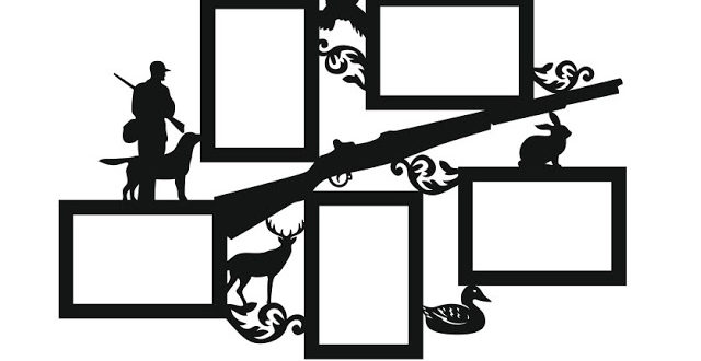 Picture frame for hunting enthusiasts