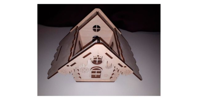 Small House 3mm or fold the size into 6mm Toy or object holder