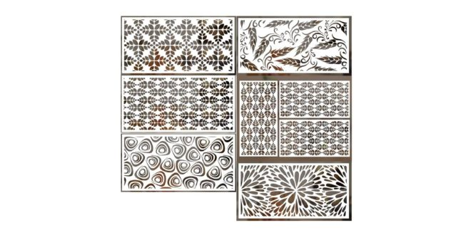 6 patterns dxf cdr files to laser cut panels