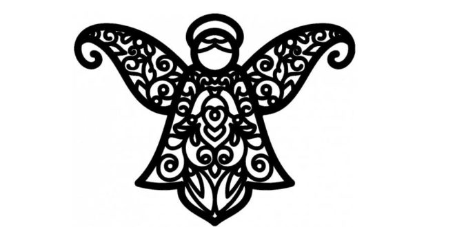 Dxf decorative angel