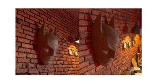 3d batman head wall decoration