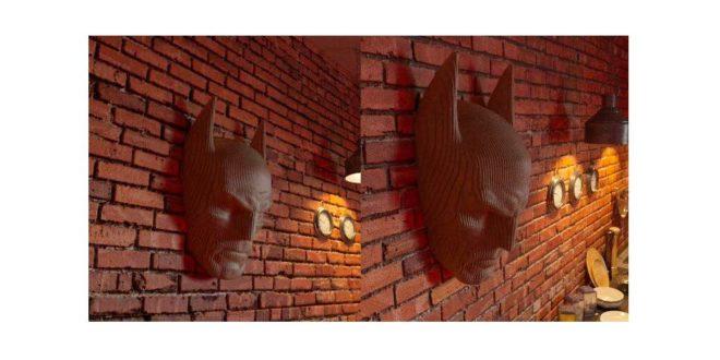 3d batman head wall decoration