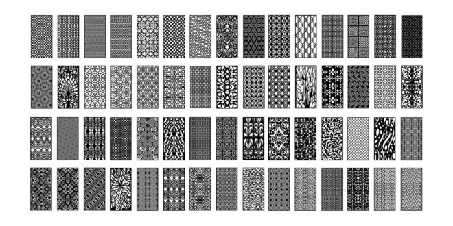 Collection pack vectors grill board panels 60 dxf and cdr files to download cnc laser router plasma mdf plywood decorative