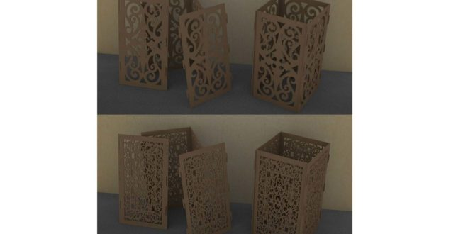 Decorative cubes to put lighting inside, 2 models, dxf cdr files ready to cut