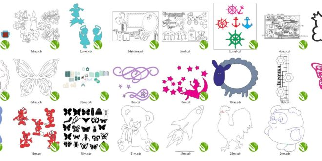 Vectors for children's decorations – files in CDR format only Corel X8