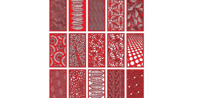 15 Templates for Laser Cut Pattern Panels – dxf and cdr vector files