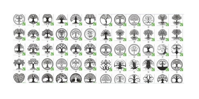 Tree Vector DXF File For CNC PLASMA LASER & ROUTER Cut Tree of life